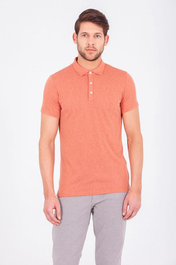 Turuncu Polo Yaka Basic Tişört
