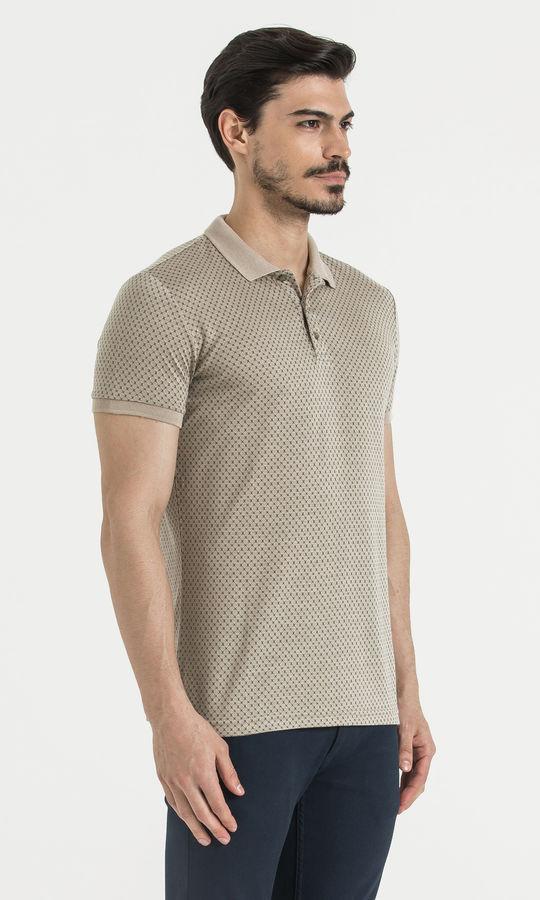 Vizon Desenli Polo Yaka Tişört