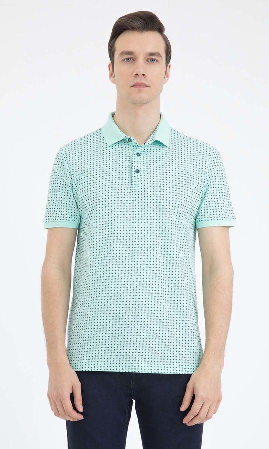 Hatemoğlu - Yeşil Desenli Polo Yaka Tişört