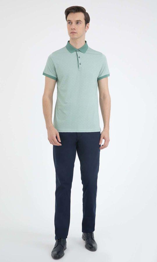 Yeşil Desenli Polo Yaka Tişört