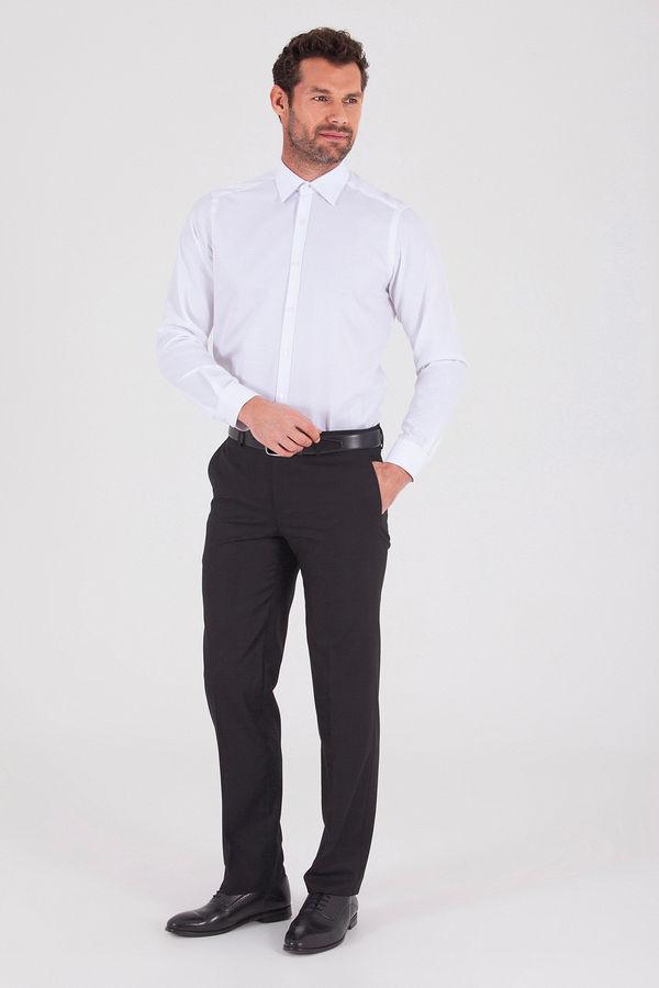 Hatemoğlu - Desenli Regular Beyaz Gömlek (1)