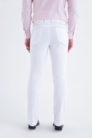 Beyaz Regular Fit Spor Pantolon - Thumbnail