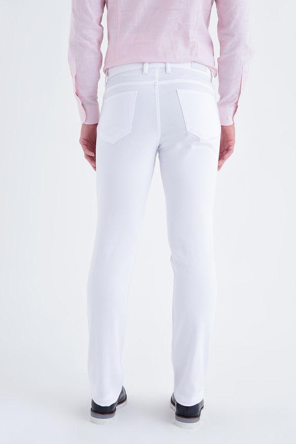Beyaz Regular Fit Spor Pantolon