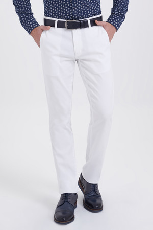 Hatemoğlu - Beyaz Regular Fit Spor Pantolon