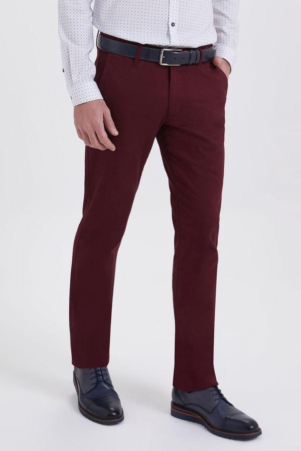 Bordo Regular Fit Spor Pantolon