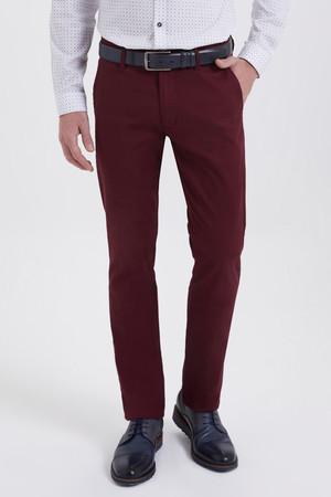 Bordo Regular Fit Spor Pantolon - Thumbnail
