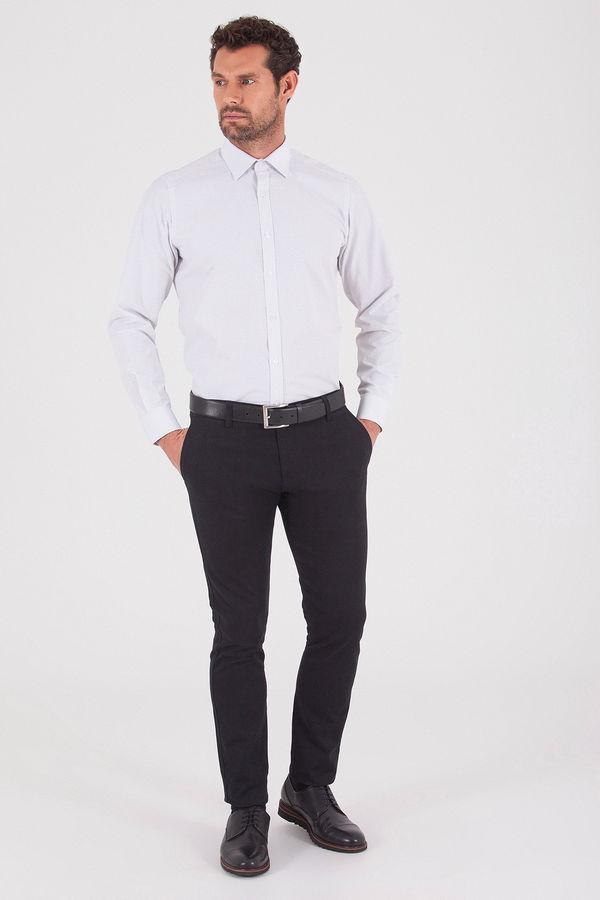 Hatemoğlu - Desenli Regular Gri Gömlek (1)