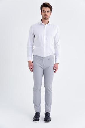 Hatemoğlu - Desenli Regular Gri Pantolon (1)