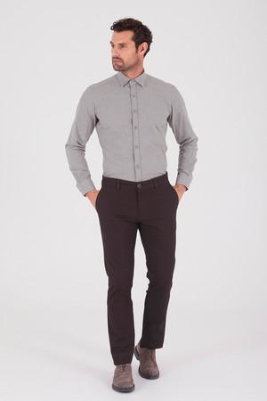Hatemoğlu - Desenli Regular Kahverengi Pantolon (1)