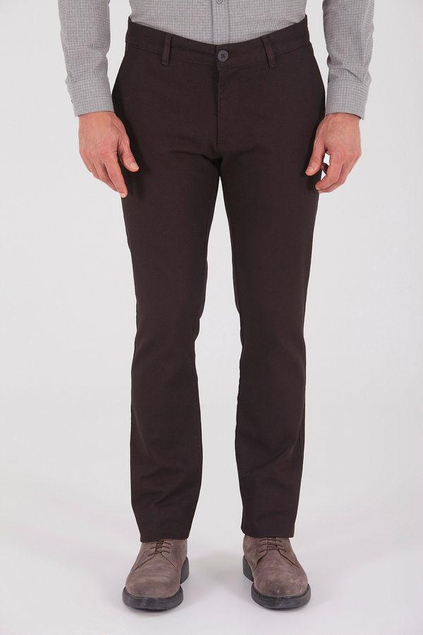 Hatemoğlu - Desenli Regular Kahverengi Pantolon