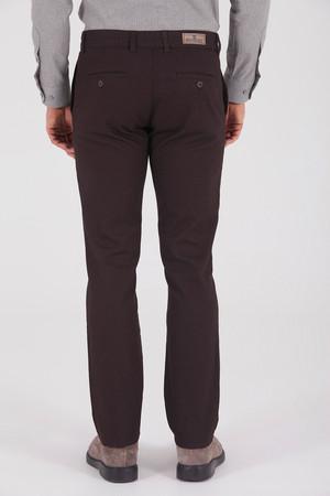 Desenli Regular Kahverengi Pantolon - Thumbnail