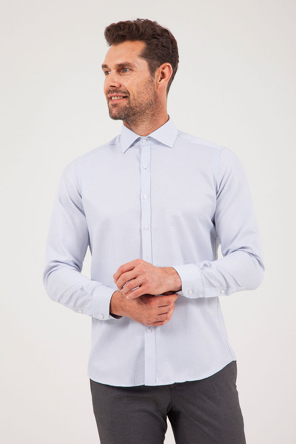 Hatemoğlu - Desenli Regular Lacivert Gömlek