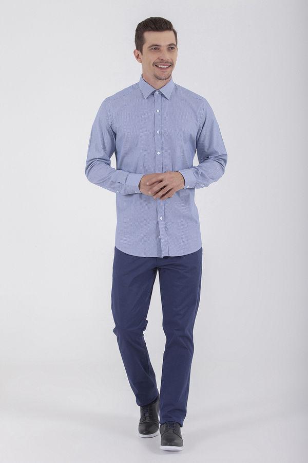 Hatem Saykı - Desenli Regular Lacivert Gömlek (1)