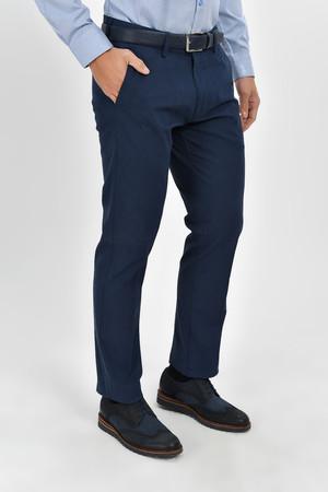 Desenli Regular Lacivert Pantolon - Thumbnail