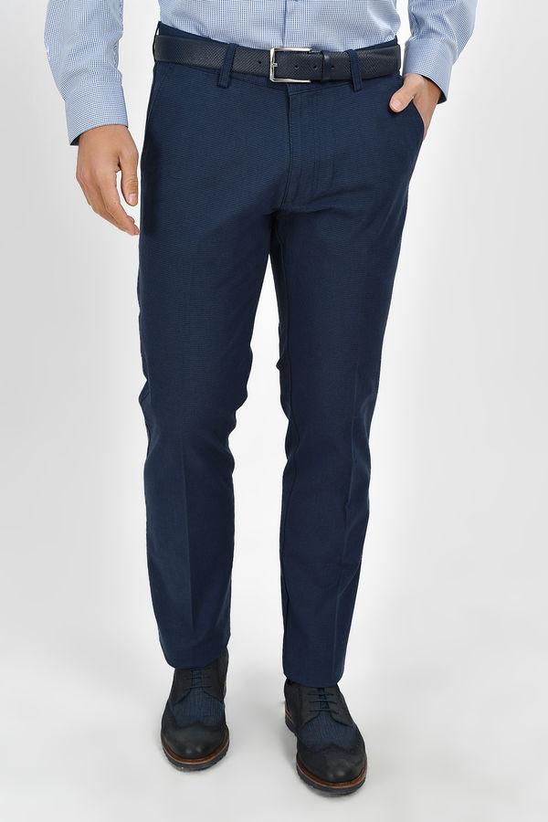 Desenli Regular Lacivert Pantolon