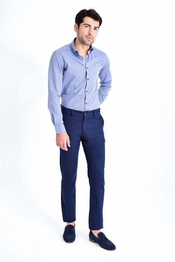 Hatemoğlu - Desenli Regular Lacivert Pantolon (1)