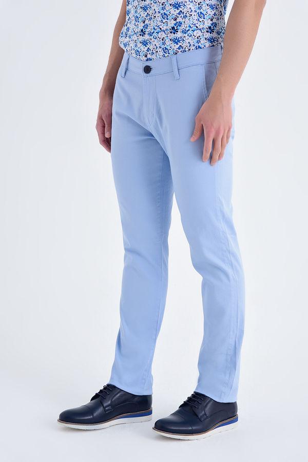 Desenli Regular Mavi Pantolon