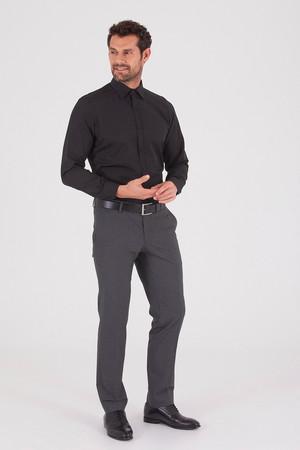 Hatemoğlu - Desenli Regular Siyah Gömlek (1)
