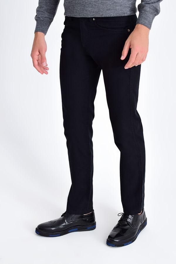 Hatemoğlu - Desenli Regular Siyah Pantolon