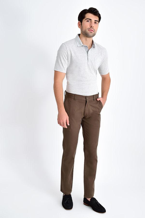 Hatemoğlu - Desenli Regular Vizon Pantolon (1)