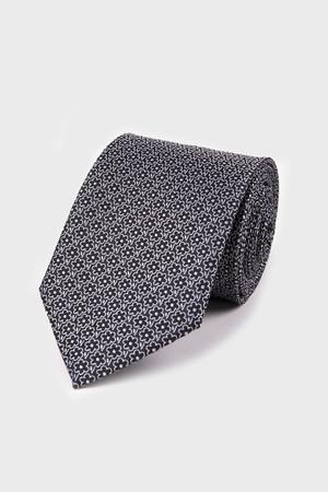 Hatemoğlu - Desenli Siyah Kravat