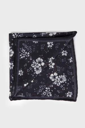 Hatem Saykı - Desenli Siyah Mendil
