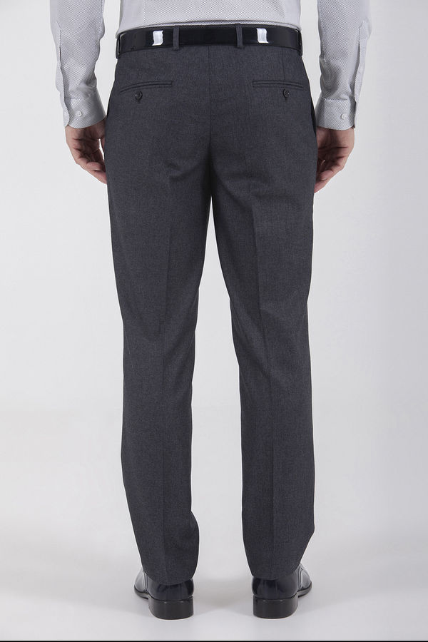 Desenli Slim Fit Antrasit Pantolon