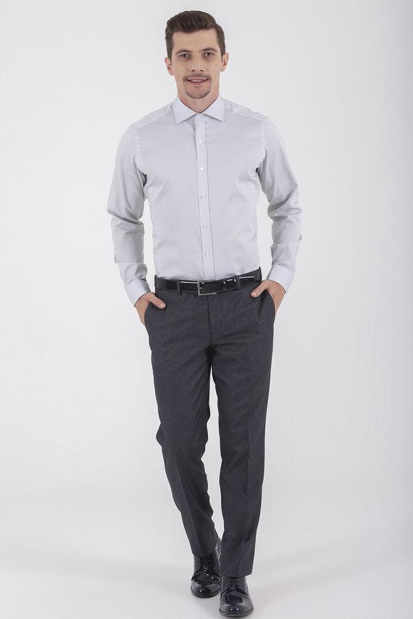 Hatemoğlu - Antrasit Desenli Slim Fit Kumaş Pantolon (1)