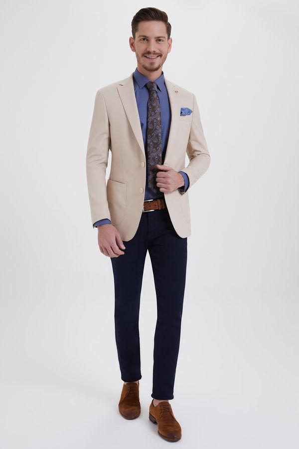 Hatem Saykı - Bej Slim Fit Blazer Ceket (1)