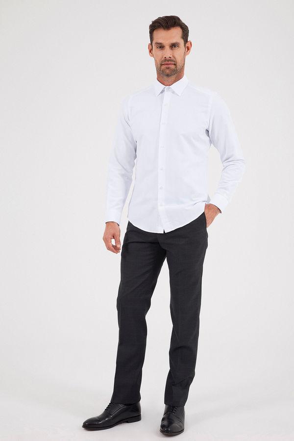 Hatemoğlu - Desenli Slim Fit Beyaz Gömlek (1)
