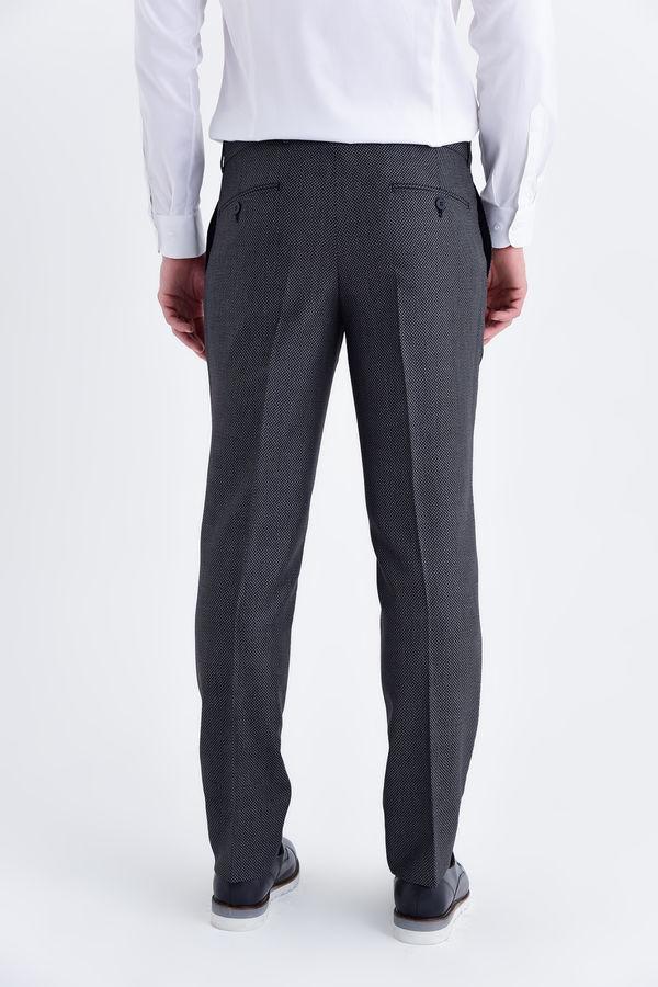 Desenli Slim Fit Bordo Pantolon