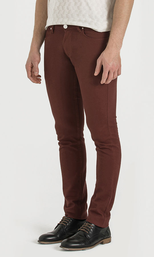 Bordo Slim Fit Spor Pantolon