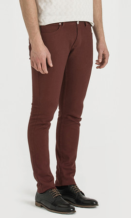 Bordo Slim Fit Spor Pantolon - Thumbnail