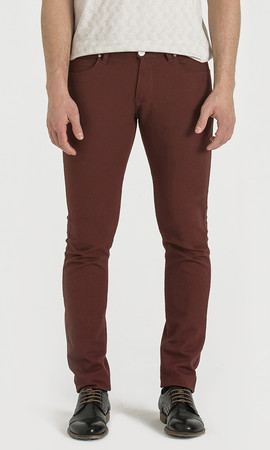 Hatem Saykı - Bordo Slim Fit Spor Pantolon