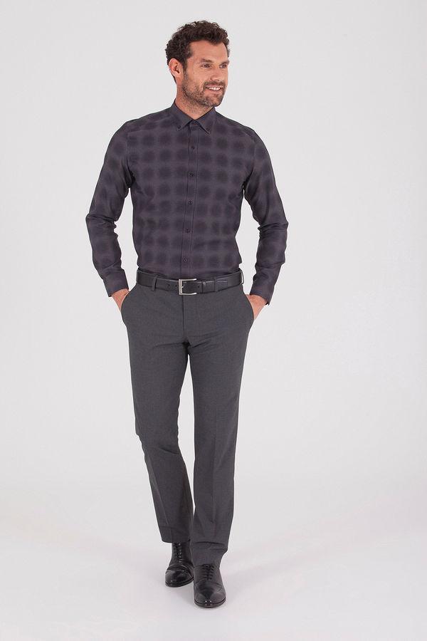 Hatem Saykı - Desenli Slim Fit Gömlek (1)