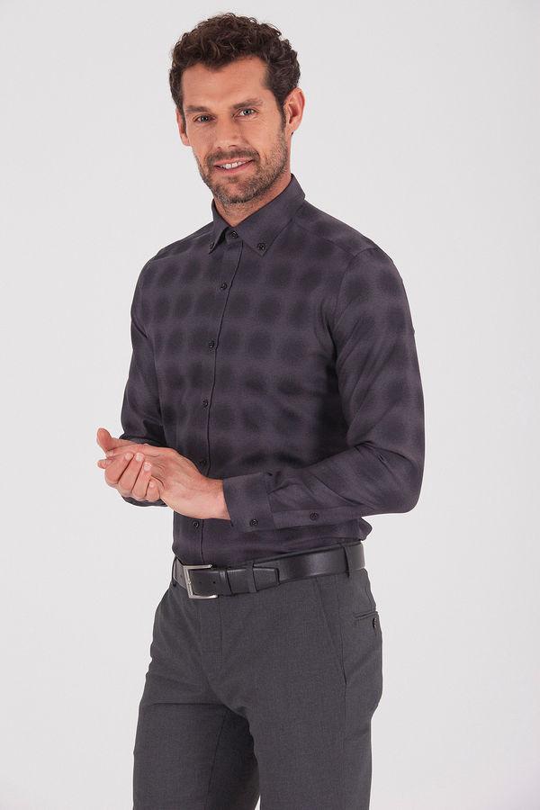 Hatem Saykı - Desenli Slim Fit Gömlek