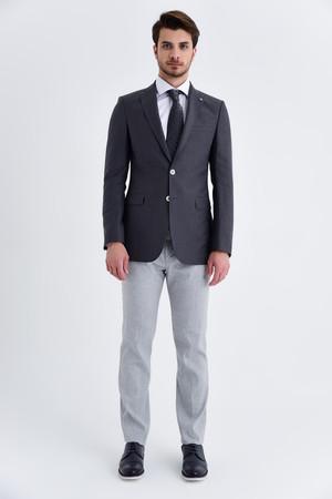 Hatem Saykı - Gri Slim Fit Klasik Ceket (1)