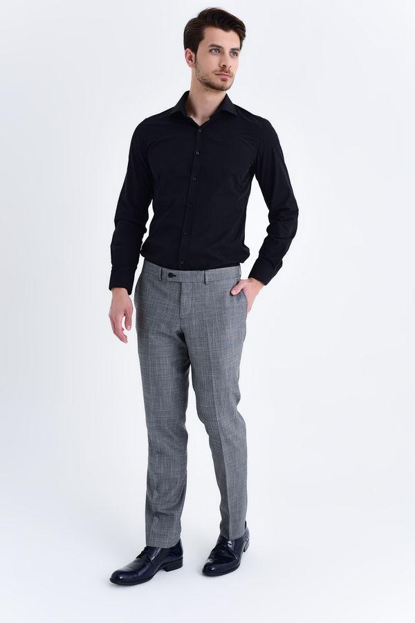 Hatemoğlu - Gri Desenli Slim Fit Pantolon (1)
