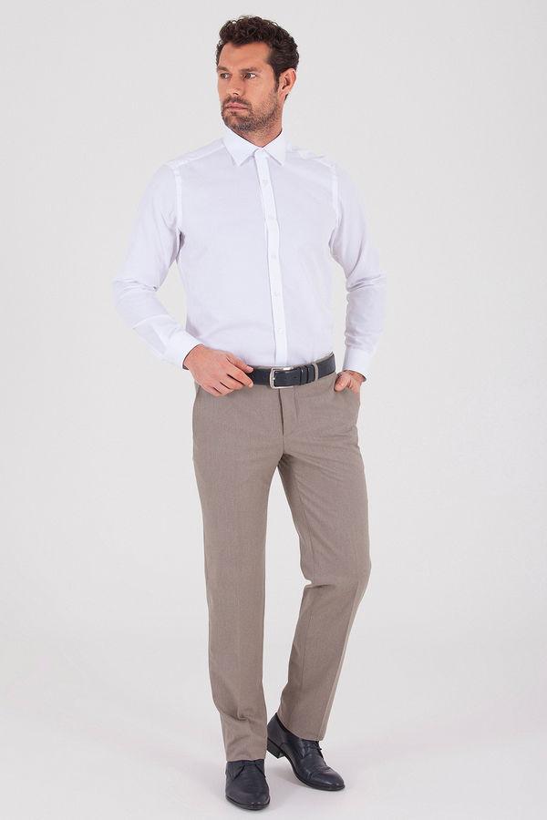 Hatemoğlu - Desenli Slim Fit Kahverengi Pantolon (1)