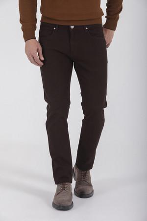 Hatem Saykı - Kahverengi Slim Fit Spor Pantolon