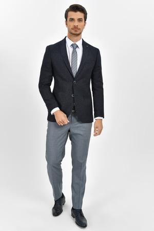 Hatemoğlu - Lacivert Slim Fit Desenli Blazer Ceket (1)