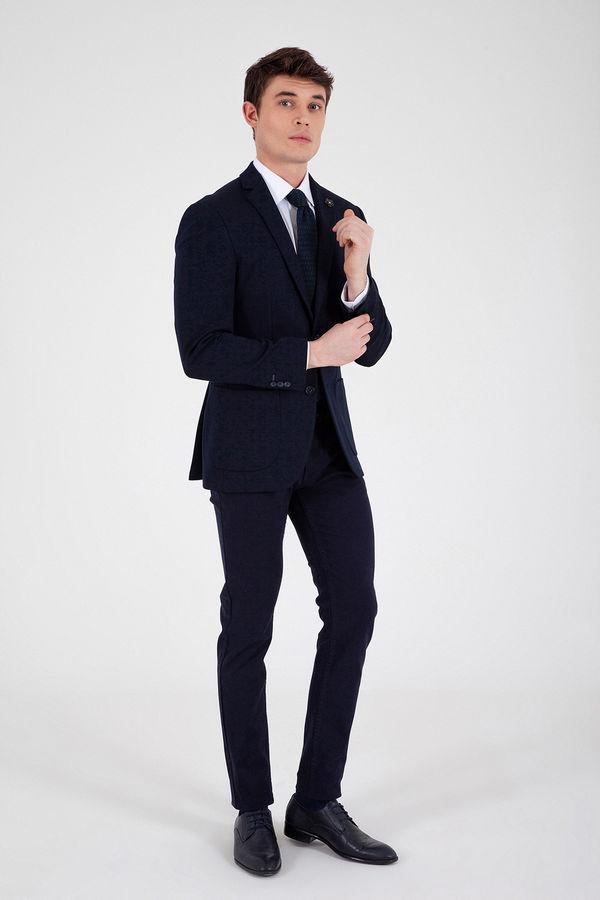 HTML - Lacivert Slim Fit Blazer Ceket (1)