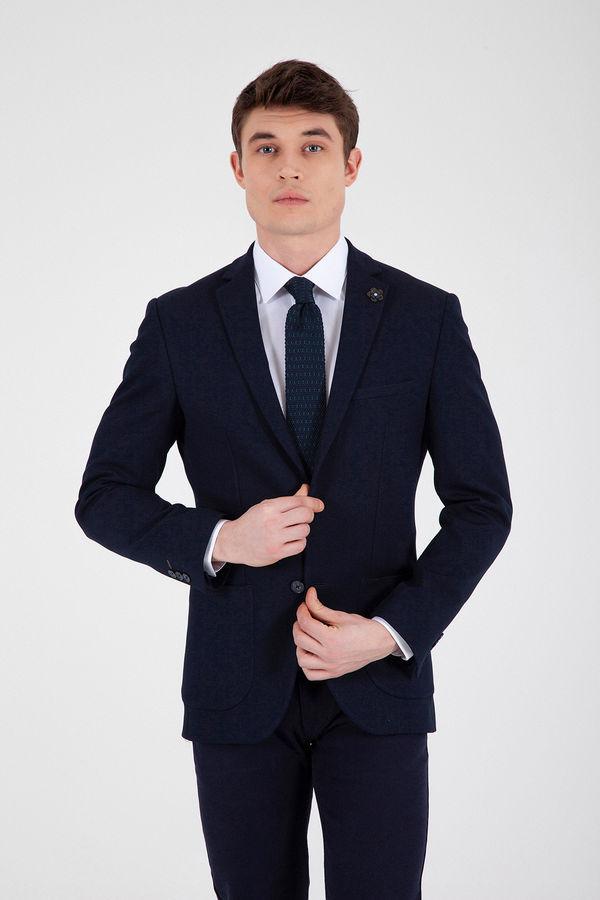 HTML - Lacivert Slim Fit Blazer Ceket