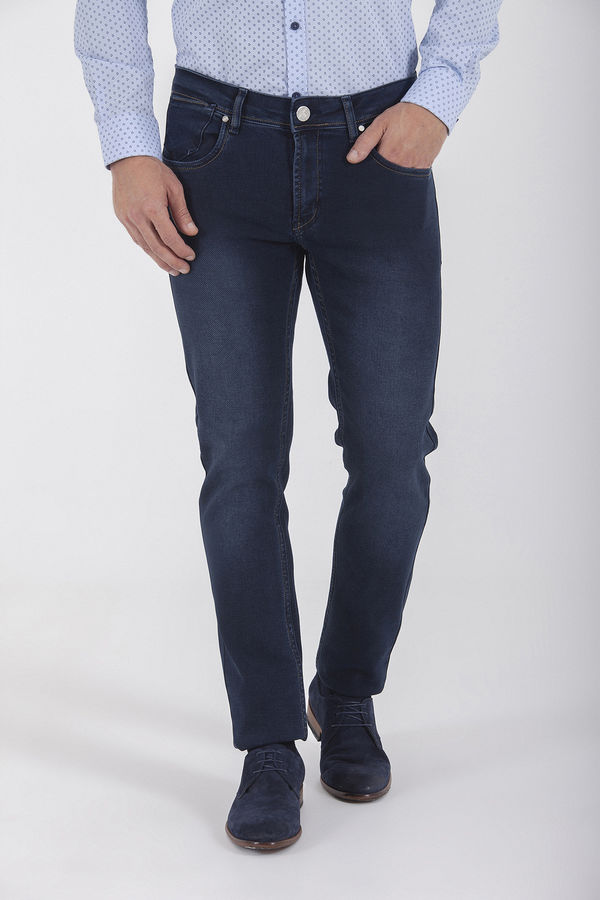 Lacivert Slim Fit Kot Pantolon