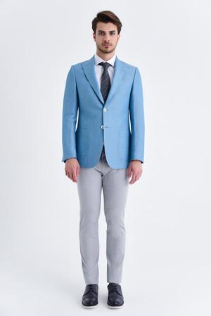 Hatem Saykı - Mavi Slim Fit Ceket (1)