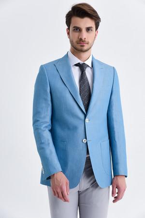 Hatem Saykı - Mavi Slim Fit Ceket