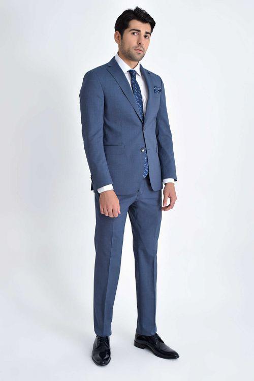 Hatem Saykı - Mavi Slim Fit Takım Elbise (1)