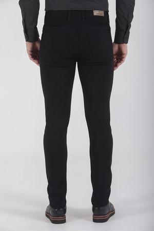 Desenli Slim Fit Siyah Pantolon - Thumbnail