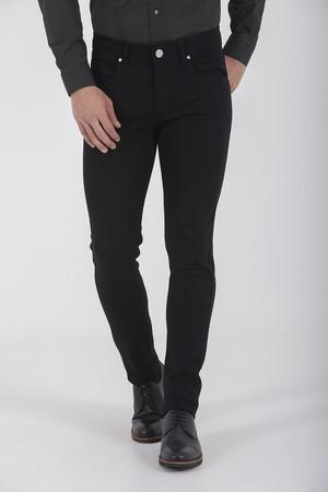 Hatem Saykı - Siyah Slim Fit Kot Pantolon