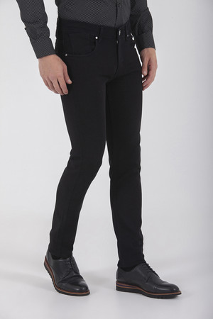Siyah Slim Fit Kot Pantolon - Thumbnail